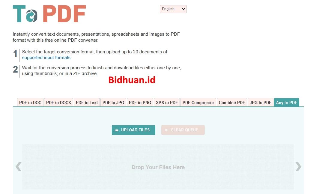 Cara Mengubah JPG ke PDF di to pdf