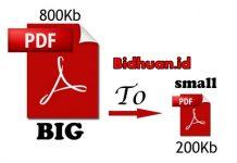 cara memperkecil ukuran file PDF offline