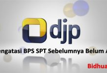 BPS SPT sebelumnya belum ada