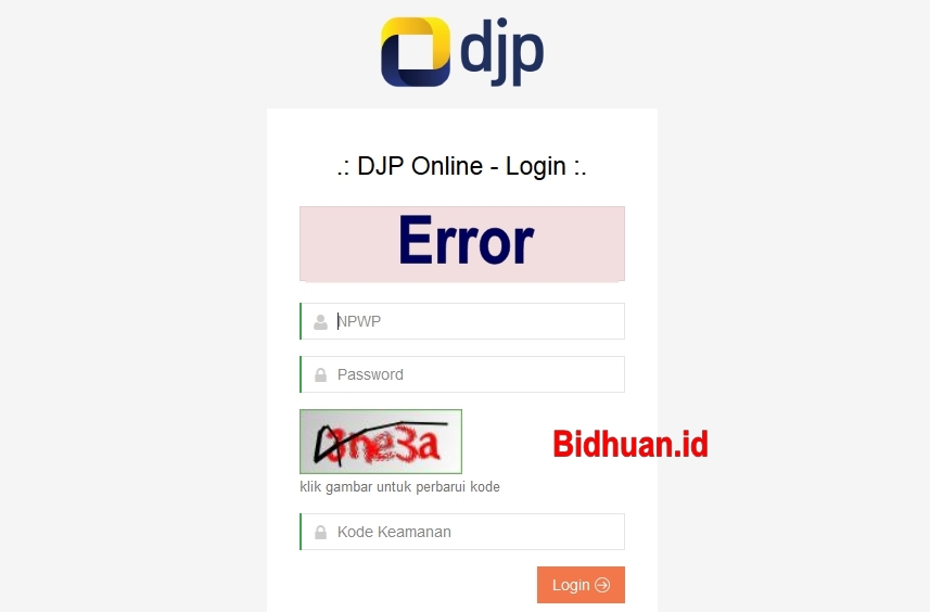 Gagal Login DJP online