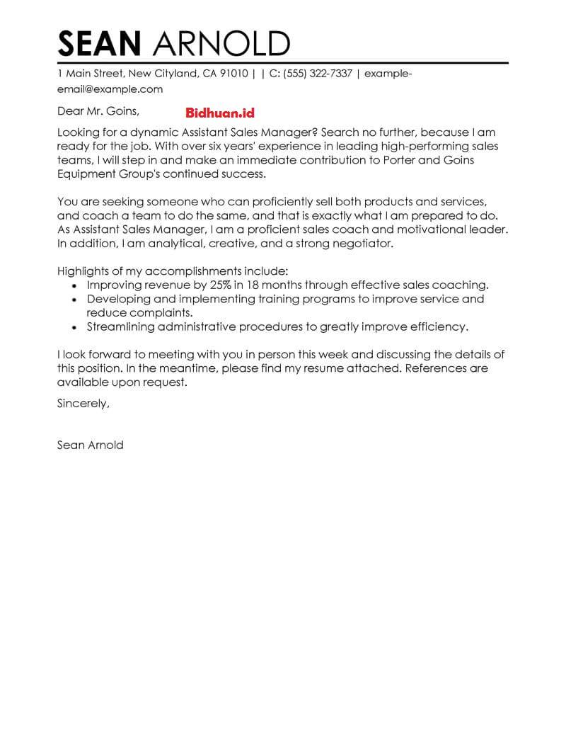 contoh job application letter yang benar