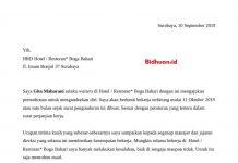 surat pengajuan resign