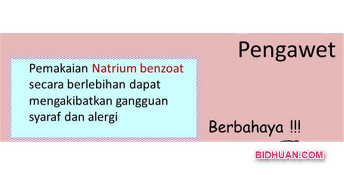 Bahaya Natrium Benzoat Bagi Kesehatan Tubuh